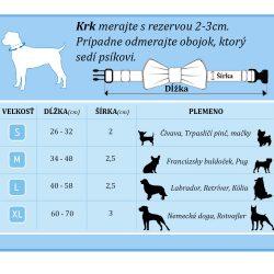 motylik pre psa tabulka velkosti