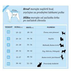 tabulka velkosti pre psa